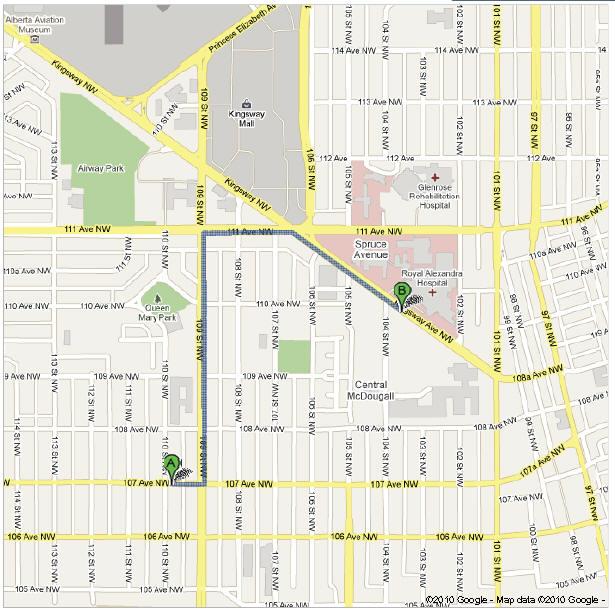 Royal Alex Hospital Map Map | Alberta Retina Consultants